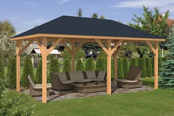 Corfu Larch Gazebo 3.4x5.9m