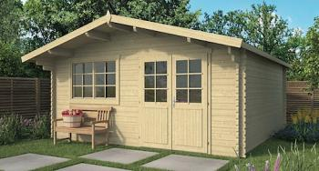 Hendrick Log Cabin 5.0 x 5.0m Double Glazed
