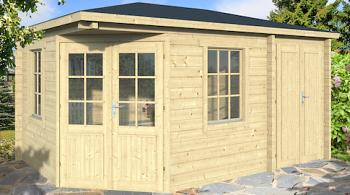 Jami Log Cabin with Shed Annexe 3x4.4m