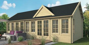 Millie Clockhouse Log Cabin 9.3x4m