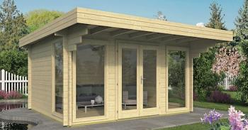 Lory Office Log Cabin 4.35 x 3.50m