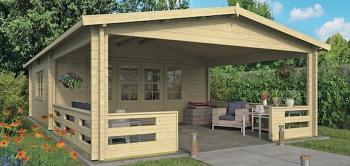 Sheffield Log Cabin 5.4 x 5.2m plus 4m Veranda