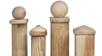 Wooden Fence Post Cap