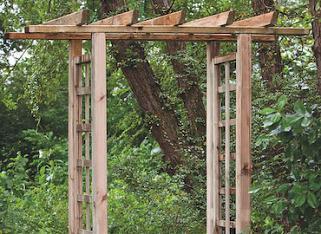 Rectangular Trellis Arch