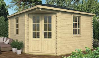 Lotte Corner Log Cabin 4.0x4.0m