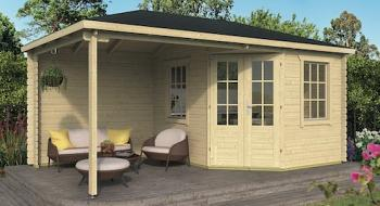 Kennet Log Cabin With Side Porch 3.0x2.5m+2.5m