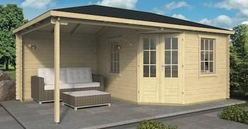 Christoffer Log Cabin With Side Porch 5.75 x 3.50m