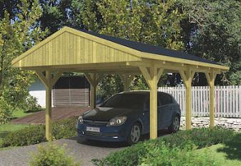 Apex Roof Carport 4.0 x 6.0m