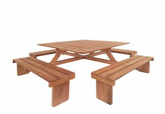 Square Hardwood Picnic table
