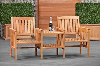 Hardwood Love Seat