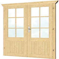 Doors for Log Cabins up to 70mm - Double Glazed