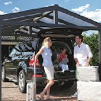 Apex Aluminium Carport 3.68m