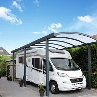 Single Arched Aluminium Carport