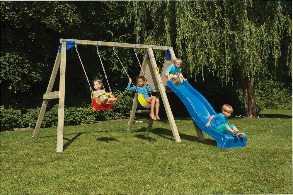 Blue Rabbit Deck Swing Play Centre