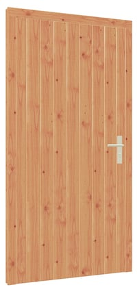 Larch Braced Door for Garden Buildings RUMMAGE