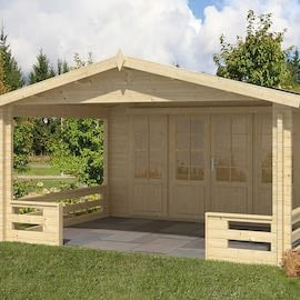Bristol Log Cabin 4.4 x 3.4m with 3m Veranda