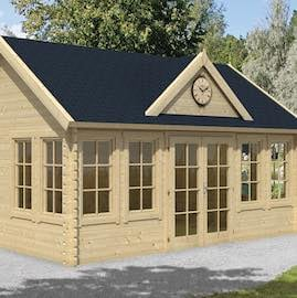 Clockhouse Log Cabin 5.5x4m - Double Glazed