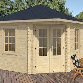 Dagmar Corner Log Cabin 3.5x3.5m