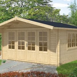 Derby Log Cabin 4.4 x 4.4m