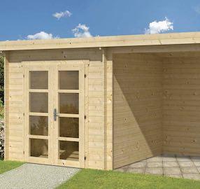 Elburg Modern Log Cabin 5x2.5m