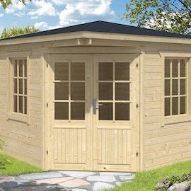Emma Corner Log Cabin 3m x 3m