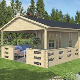 Enok Log Cabin 4.5 x 7.2m