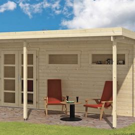 Etten Modern Log Cabin with Porch 4.98 x 2.98m