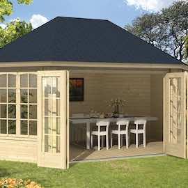 Gudrun Log Cabin 5.03 x 3.59m - Double Glazed