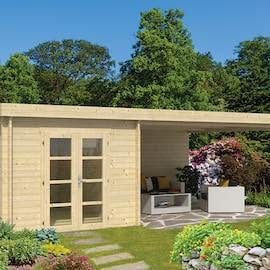 Gunnar Log Cabin with Side Porch 7.25 x 4.0m