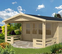 Wigan Log Cabin 5.4 x 5.4m with 2m veranda
