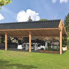 Larch Asymmetrical Apex Garden Building Type Five