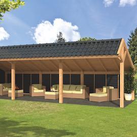 Larch Asymmetrical Apex Garden Building Type Six