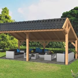 Modular Larch Asymmetrical Apex Garden Building Components