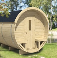 Log Cabin Barrel Office - Camping - Double Glazed