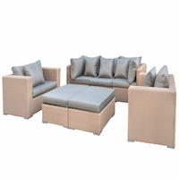 Seven Piece Wicker Lounge Set Range