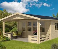 Nottingham Log Cabin 5.4 x 4.4m with 2m veranda - Double Glazed