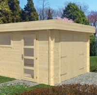 Marketta Log Garage 3.8 x 5.36m
