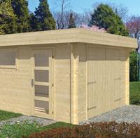Marketta Log Garage 3.8 x 5.36m