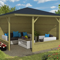 Mitch Log Cabin Gazebo 3.5 x 3.5m