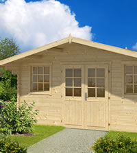 Parijs Log Cabin 5x3.8m