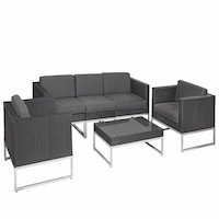 Richmond Black Rattan Lounge Set