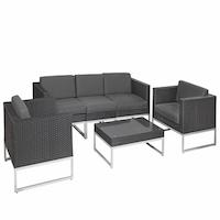 Richmond Black Rattan Lounge Set
