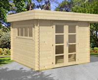 Rotterdam Modern Log Cabin 3m x 3m