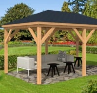 Samos Larch Gazebo 2.9x4.9m