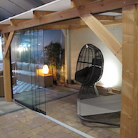 Glass Sliding Wall System For Gazebos