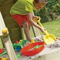 Small Sandpit with Wooden Lid