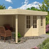 Stig Log Cabin With Side Porch 3.0x2.5m+2.5m