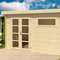 Uddel Modern Log Cabin 3.8x2.6m