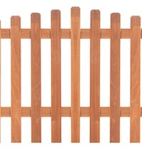 Arched Hardwood Picket Fence