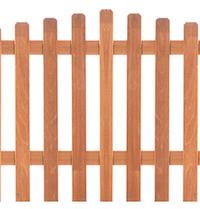 Arched Hardwood Picket Fence